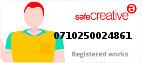 Safe Creative #0710250024861