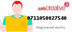 Safe Creative #0711050027540