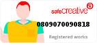 Safe Creative #0809070090818