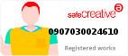 Safe Creative #0907030024610