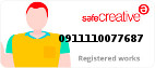 Safe Creative #0911110077687